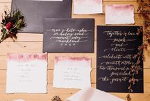 Red, Black and Gold Wedding Theme / Bold beautiful berry hues, dramatic black and hints of gold for a brave wedding statement.