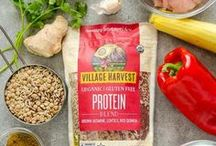 Village Harvest Benefit Blends / Introducing the Village Harvest Benefit Blends! Three unique mixes of rice and grains filled with the nutrients your body craves. Each of these blends offers a distinctive combination of healthful goodness: Protein, Antioxidants or Ancient Grains.