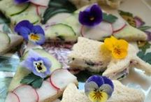 An Edible Bouquet / Sweet and Savoury recipes. Foods containing, decorated or garnished with edible flowers .... Rose, violets, lavender, orange blossom, elderflower, hibiscus, pansy, marigolds ....PLEASE  visit my other boards DRINKS A Floral Palate, Herbs & Wild Foods / by Denise