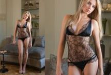 Myriam Girard Lookbook / Lingerie & Nightwear in Silk and French Chantilly Lace