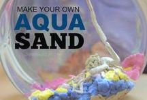 Hydrophobic Sand & Moon Sand Recipe / homemade moon sand, moon sand ingredients, recipe for moon sand, how to make moon sand, how to make moon dough, what is moon sand made of, moon sand recipe, moon dough recipe, hydrophobic sand, what is moon sand, squishy sand ingredients