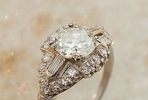 Engagement Rings / #Engagement and wedding rings -- some with diamonds, some without and lots of vintage rings!