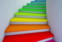 Rainbow inspiration / Inspired and highly creative ideas on how to make our world more colorful in all the colors of the rainbow. From rainbow home decor, rainbow cookies, rainbow cake, do I need to keep going? It's just roy g biv heaven!