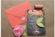 Wedding Invitations & Paper Products / Wedding invitation layout, colors, design ideas + plus anything else that has to do with paper (programs, signs & more).