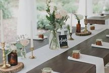 Simple Wedding Decor / Budget wedding decor ideas -- or for those who just prefer to keep things simple.
