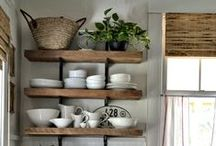 styling shelves . . .