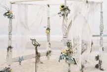 Wedding Ceremony / Alternative altars, aisle decor & everything else for the wedding ceremony.