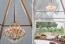 Tent & Tent-like / Tents, lights, fabrics -- anything overhead at a wedding or event.