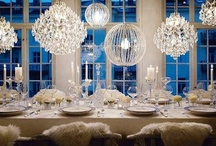 Soiree:  winter 2012 Inspiration / Think ICE!  winter whites, crystal, bling with touches of blue and green.