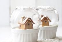 Snow globes / A collection of snow globes for winter fantasy.