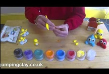 Clay Project for Kids and Adults / A collection of great ideas, fantastic for craft projects and making your very own little artworks. The best air drying modelling clay ~ JumpingClay.