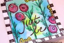 Art Journal/Sketch Book - My Work / I love to art journal or just take time to create as often as I can.  Here you can find pages from my art journals as well as from my sketch books. / by Kim Cammack Hesson