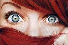 Colours for a Red head / #redhead #coloursforaredhead #eyeshadowforaredhead #hair #fashion
