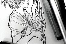 Inktober 2016 / Desenhos feitos durante o mês de Outubro de 2016