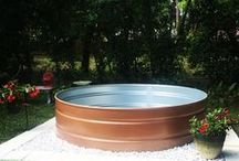 Stock tank and above ground soft pools for a fraction of the price of inground pools / Pools of all kinds are aces. inground pools, above ground pools and diy pools.