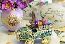 Easter / Easter customs vary across the Christian world, but decorating Easter eggs is common. In the Western world, customs such as egg hunting and the Easter Bunny extend from the domain of church, and often have a secular character.