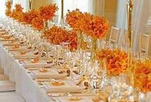 FALL WEDDING STYLE, DECORATIONS, FLOWRS / Inspirational ideas for your fall wedding from clothes for the entire wedding party to beautiful flowers, decor, serve ware and food!  / by Beatriz Ball Collection