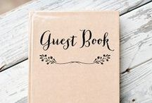 Wedding Guestbooks / Wedding guestbook ideas that are creative and will make for a wonderful wedding keepsake!