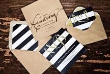 Wedding Stationery / Wedding invitations, programs, menus, and other pretty printed goods!