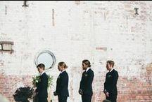 Groom & Groomsmen Style / Stylish looks for the groom & his groomsmen #weddings