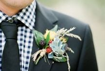 Ties, Bow-Ties & Boutonnieres / Ties, Bow Ties and Boutonnieres for to stylishly accessorize the groom and his groomsmen at the wedding.