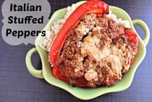 Stuffed Peppers Recipes / Lots of yummy stuffed peppers recipes that will work for everyone.  Great way to be healthy!