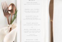 wedding | menu