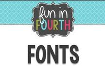 Fonts / Font love!  Awesome fonts and ways to pair them.