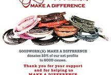 GoodWorks Bracelets / Trendy wrap bracelets. 25% of net proceeds from sales go to good causes. / by Rollin' Divas