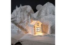 Book Art / Art and sculptures made with using books
