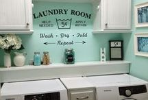 Home Decor: Laundry Room / Decor and organization in the laundry room.
