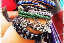 piled on / because you can never have too many. #layered bracelets #bracelets #jewelry / by Karen Roark