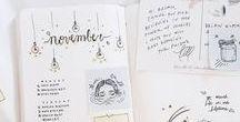 Journal + Decorations / Bullet journals, journals, illustrations, etc.