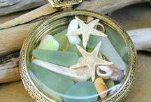 Beach Glass, Pottery & Shell Designs