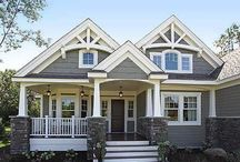 Craftsman Home Exteriors and Exterior Paint Colors / Exterior home ideas