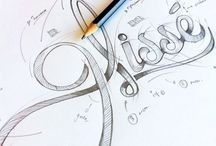 Hand Lettering / hand drawn/created typography