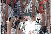 MA Children's Book Illustration Inspiration Board