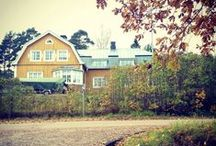 Log House / Southern Finland / Eternal renovation (2011 - 2015) with contemporary twist. 7h, k, bath, wc, 2 floors. 1.2ha garden, terrace. 1920s log house, South-Western Finland.