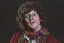 """Classic Year Doctor Who FanArt / Amateur and Commercial FanArt of the """"Original"""" Time Lords and Companions (One through Eight) / by Lisa Kay Tate"""