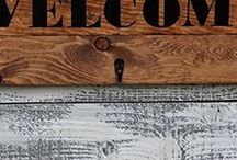 Welcome Home Coat Rack / Here are our Rustic Welcome Home Coat Racks made from reclaimed wood, Wood Coat Racks, Welcome Home Coat Racks, Welcome Home Signs, Made from Re-furbished Wood.