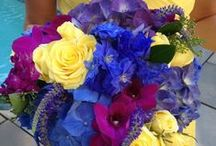 ideas for Lindsey D... / June 24, 2014 West Greenwich, RI- royal purple dresses, butterflies and bright florals with fushia, blue, purple and light yellow  / by the flower girl