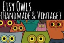 Etsy Owls {Handmade & Vintage} / Pins of awesome owl handmade jewelry, accessories, clothing, paper goods...anything to do with owls that is for sale on Etsy.  Also VINTAGE owl items!!  To start pinning, please join my Etsy group, https://www.etsy.com/teams/20637/etsy-owls-handmade-and-vintage and leave your Pinterest URL in the forum. Also, you have to follow one of my boards: http://www.pinterest.com/EverydayEtsy ...Oh, and visit my blog if you get a chance:  www.EverydayEtsy.com