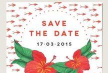Save the Date / Save the Date - à envoyer à vos invités pour qu'ils vous réserve leur week-end lors de votre mariage ! / by Dioton - Estelle Rivaud