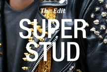 Super Stud: The Edit / Serious embellishment is seriously hot. Forget pretty pins; these statement studs pack a punch. Glamorous, gothic and dripping with style, pair yours with a serious attitude for best effect.