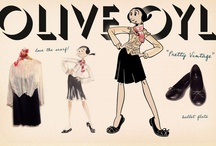 """Olive's Look #8: Pretty Vintage / Olive Oyl has created a pinbord inspired by her latest look: """"Pretty Vintage"""", so you too can look stylish..."""
