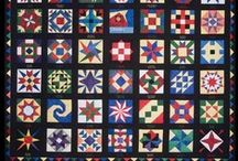 Barn Quilts / These are painted on the sides of barns in many states.  I LOVE them!