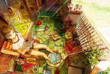 Just Imagine / Animation, Anime, Drawings, Digital Paintings. Lotsa detail. Lotsa imaginary and dystopian places.