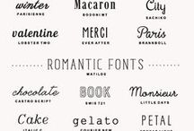Typography, Words, Fonts