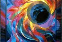 Abstract Quilts / Prepare to be amazed! / by Ellen Lindner - Adventure Quilter
