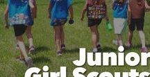 Junior Girl Scouts / All things Junior Girl Scouts: Badge activities, Ceremony Ideas, Game Suggestions, Songs, Graces, Teaching the Promise and law, and more.
